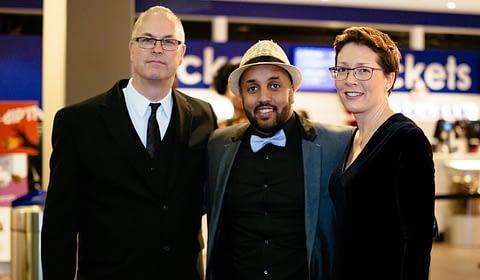 Rudy Veraar met Mo Hersi en Linda Graanoogst